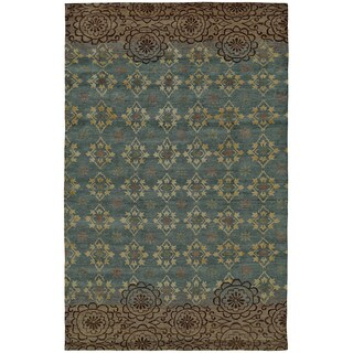 Grand Bazaar Silver Sage Hand Knotted Timeo Rug (5' 6 x 8' 6)
