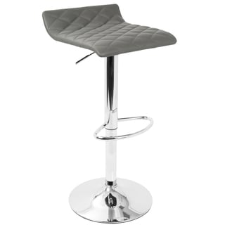 LumiSource Cavale Contemporary Quilted Adjustable Barstool