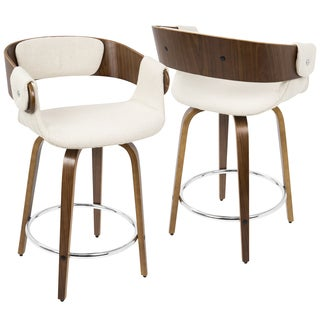 LumiSource Elisa Mid-century Modern Counter Stool