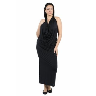 24/7 Comfort Apparel Daring and Dazzling Maxi Length Plus Size Dress