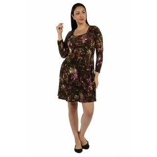 24/7 Comfort Apparel Quiet Sort of Glamour Plus Size Dress