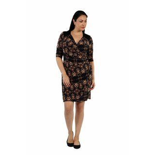 24/7 Comfort Apparel Unforgettable First Impression Faux Wrap Dress Plus Sized