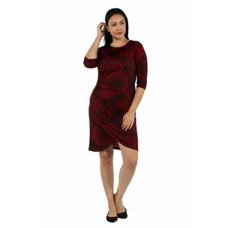 24/7 Comfort Apparel Center of Attention Plus Size Dress