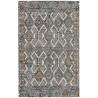 Grand Bazaar Dimat Black/Tangerine Tufted Rug (8' x 11')