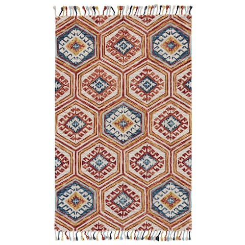 Grand Bazaar Calendra Gold / Orange Area Rug - 8' x 11'