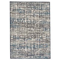 Grand Bazaar Plaza Gray / Turquoise Area Rug (8' x 11') - 8' x 11'
