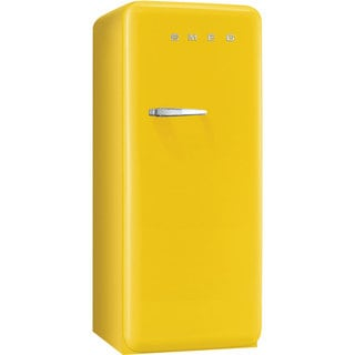 Smeg FAB28UYWR1 50s Style 9.2 Cubic Feet Yellow Right-hand Refrigerator with Freezer Compartment