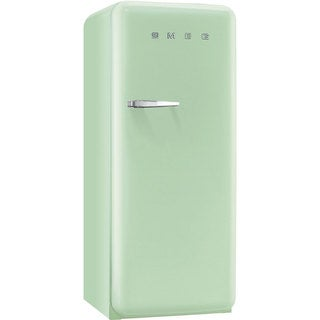 Smeg FAB28UPGR1 50s Style 9.2 Cubic Feet Pastel Green Right-hand Refrigerator with Freezer Compartment