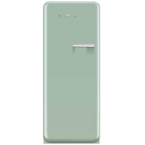Smeg FAB28UPGL1 50s Style 9.2 Cubic Feet Pastel Green Left-hand Refrigerator with Freezer Compartment