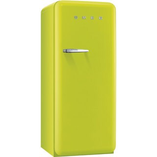 Smeg FAB28ULIR1 50s Style 9.2 Cubic Feet Lime Green Right-hand Refrigerator with Freezer Compartment