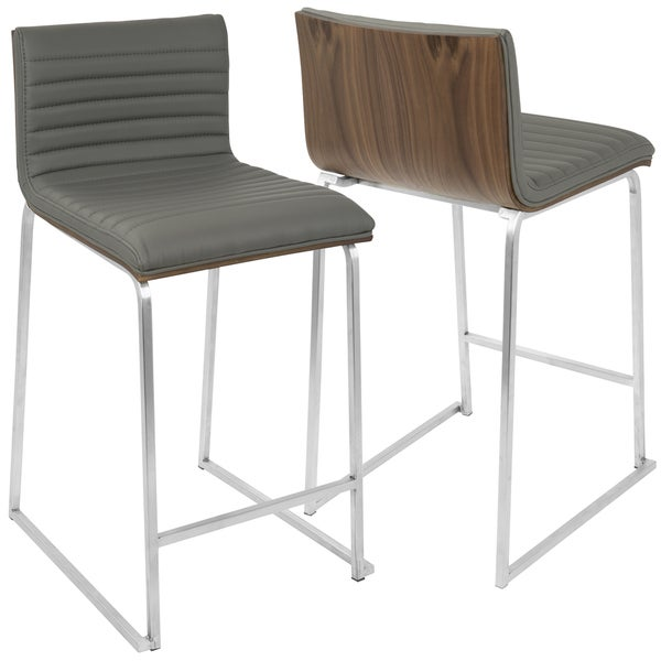 Charmant LumiSource Mara Stainless Steel Contemporary 26 Inch Counter Stools (Set Of  2)