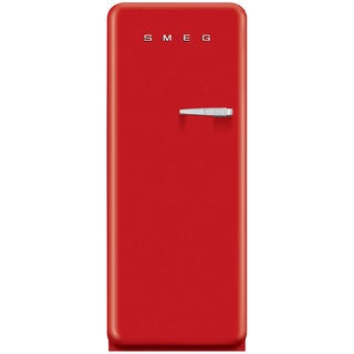 Smeg FAB28URDL1 50s Style 9.2 Cubic Feet Red Left-hand Refrigerator with Freezer Compartment