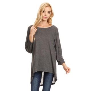 Women's Heather Grey Tunic Top