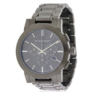 Burberry Men's Grey Stainless Steel Ion Chronograph Watch