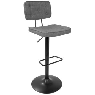 Stanza Tufted Contemporary Adjustable Barstool