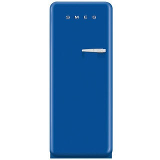 Smeg FAB28UBEL1 50s Style 9.2 Cubic Feet Blue Left-hand Refrigerator with Freezer Compartment