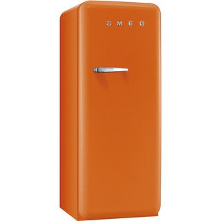 Smeg FAB28UORL1 50s Style 9.2 Cubic Feet Orange Left-hand Refrigerator with Freezer Compartment