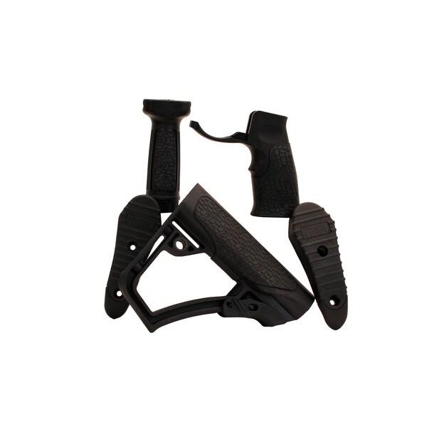 Daniel Defense Collapsible Buttstock Pistol Grip & Vertical Foregrip Combo Black