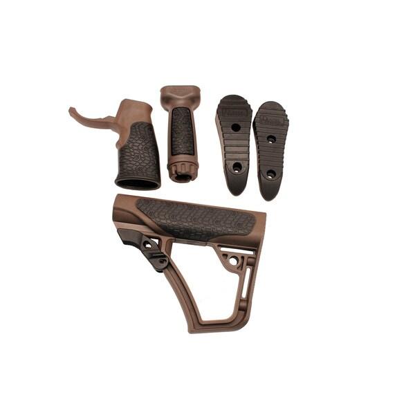 Daniel Defense Collapsible Buttstock Pistol Grip & Vertical Foregrip Combo Mil-Spec+, Brown