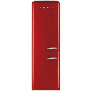 Smeg FAB32URDLN 50s Style Bottom Freezer 11.7 Cubic Feet Red Left-hand Refrigerator