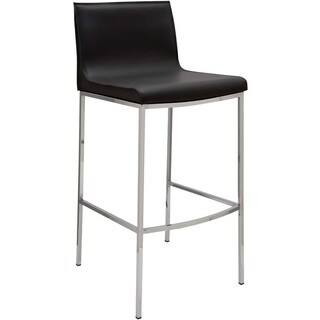 Trendy Leather Chrome Dining Room Bar Stool