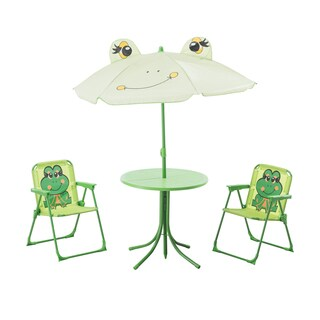 Sunjoy Frog Kiddy Bistro Set Made of Steel and Polyester, 20 Inches