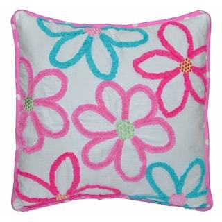 Mariah Floral Decorative Cotton Blend 18-inch Throw Pillow