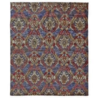Grand Bazaar Navy/Multi Hand Knotted Ramla Rug (5' 6 x 8' 6)