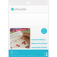 """Silhouette Printable Scratch-Off Sticker Sheets 8.5""""X11"""" 5pk-Printable"""