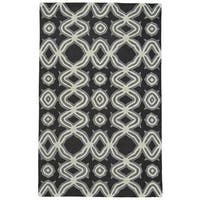 Grand Bazaar Black Tufted Archipelago Rug - 5' x 8'
