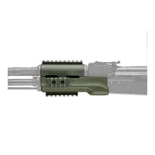 Hogue AK-47 Overmolded Forend Standard, Rubber Grip Area, Olive Drab Green