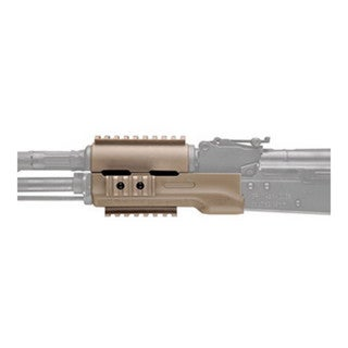 Hogue AK-47 Overmolded Forend Standard, Rubber Grip Area, Flat Dark Earth
