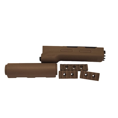 Hogue AK-47 Overmolded Forend Yugo Style, Rubber Grip Area, Flat Dark Earth