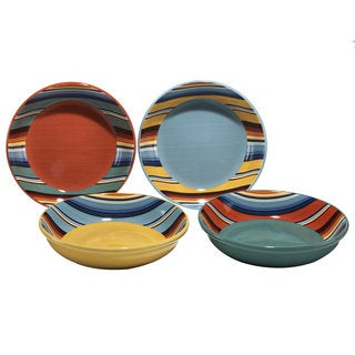 Certified International Pinata Ceramic 9.25-inch Soup/Pasta Bowl (Set of 4 Assorted Designs)