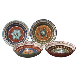 Certified International Monterrey Ceramic 9.25-inch Bowls (Set of 4 Assorted Designs)  sc 1 st  Overstock & Southwestern Dinnerware For Less | Overstock.com