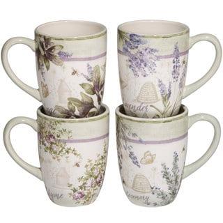 Certified International Herbes de Provence Ceramic 22 oz. Mugs (Set of 4)