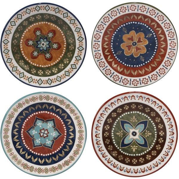Certified International Monterrey Multicolored Ceramic 8.75-inch Dessert Plate (Set of 4 Assorted Designs  sc 1 st  Overstock & Certified International Monterrey Multicolored Ceramic 8.75-inch ...