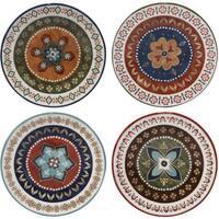 Certified International Monterrey Multicolored Ceramic 8.75-inch Dessert Plate (Set of 4 Assorted Designs)