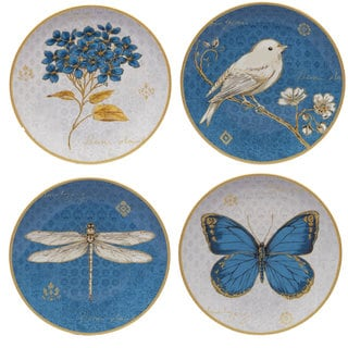 Certified International Exotic Garden Ceramic 9-inch Dessert Plates (Set of 4 Assorted Designs)