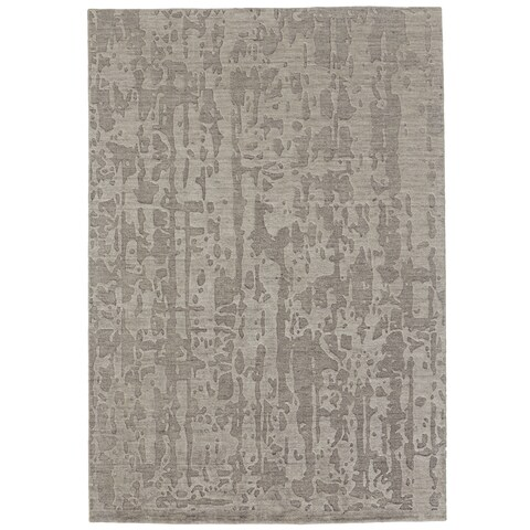 "Grand Bazaar Taupe Hand Knotted Ananya Rug (5' 6 x 8' 6) - 5'6"" x 8'6"""