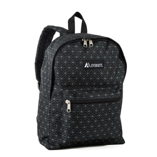 Everest Geo Pattern 15-inch Backpack with Padded Shoulder Straps