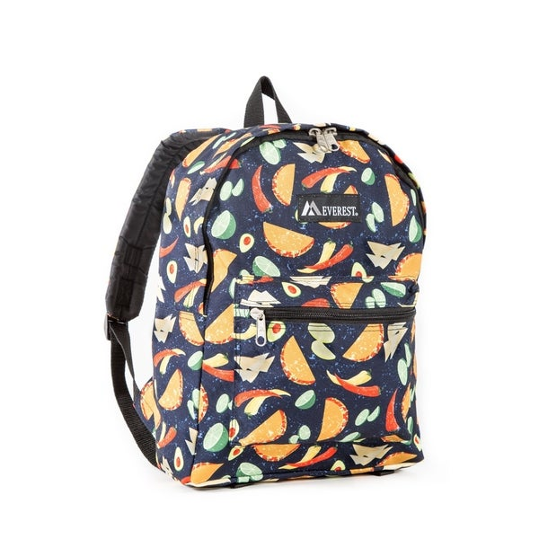 Shop Everest Tacos Pattern15-inch Backpack with Padded Shoulder Straps -  Free Shipping On Orders Over  45 - Overstock - 14407275 0995658b378ee