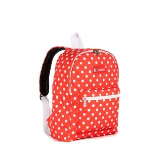 Everest Tangerine and White 15-inch Dot Padded Shoulder Straps Backpack
