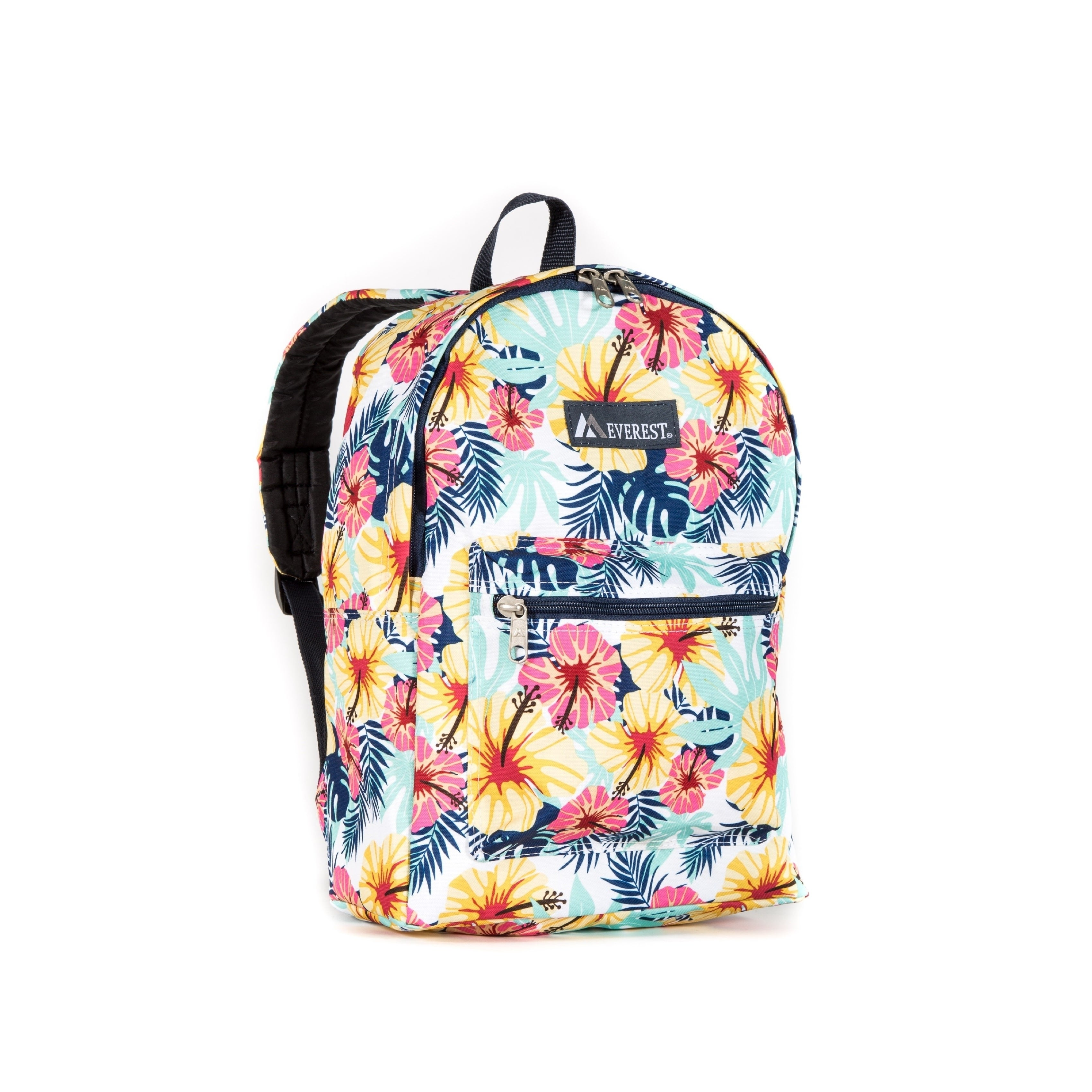 Everest Tropical Pattern 15-inch Backpack with Padded Sho...
