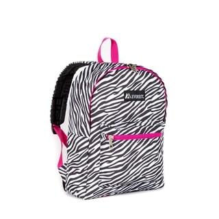 Everest Zebra Pattern 15-inch Backpack with Padded Shoulder Straps