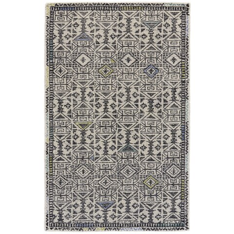 Grand Bazaar Black / Line Tufted Binada Rug - 5' x 8'