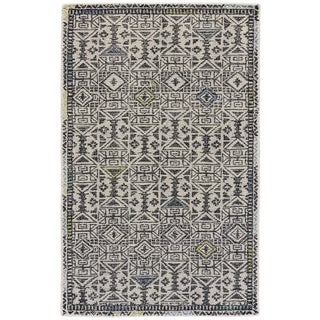 Grand Bazaar Black/ Line Tufted Binada Area Rug (5' x 8')