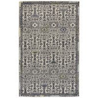 Grand Bazaar Black / Line Tufted Binada Rug (5' x 8') - 5' x 8'