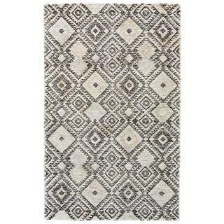 Grand Bazaar Gray / Pastel Tufted Binada Rug - 5' x 8'