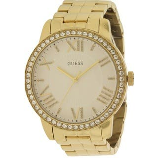 Guess Women's W0329L2 Gold-tone Watch|https://ak1.ostkcdn.com/images/products/14407544/P20976657.jpg?impolicy=medium